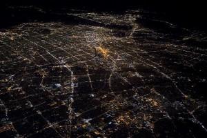 Lucid dream above LA River at night