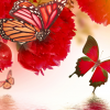 Vibrant-Rose-Petal-Butterflies-123rf