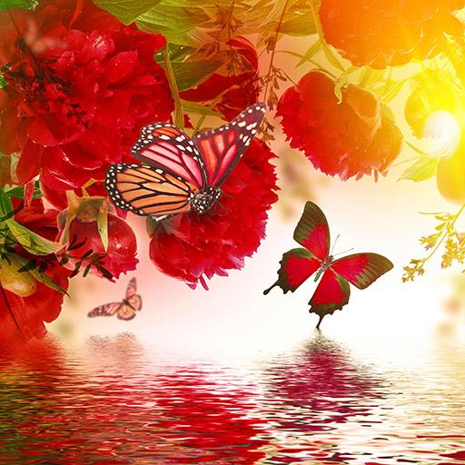 Vibrant Rose Petal Butterflies
